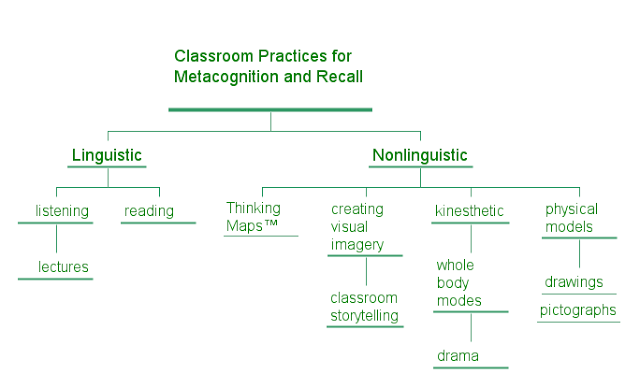 E Classroom Practices for Metacognition and Recall Green